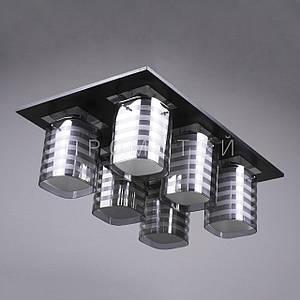 Люстра на 6 лампочек (черная). P3-11731/6/DK+BK