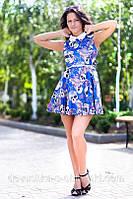 Платье воротник камни  дг155, фото 1