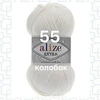 Пряжа для ручного и машинного  вязания Alize EXTRA (Экстра) акрил 55 белый