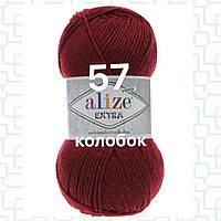 Пряжа для ручного и машинного  вязания Alize EXTRA (Экстра) акрил 57 бордовый