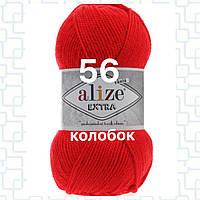 Пряжа для ручного и машинного  вязания Alize EXTRA (Экстра) акрил 56 красный