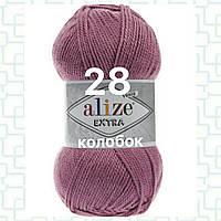 Пряжа для ручного и машинного  вязания Alize EXTRA (Экстра) акрил 28 ярко  сухая роза