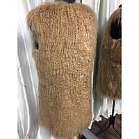 Меховая жилетка из ламы