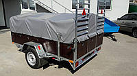 Прицеп для перевозки квадроциклов и грузов универсальный 2,5м х 1,4м. Рама - цинк.