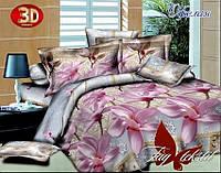 Полуторный комплект постельного белья ранфорс с комп. Офелия ТM TAG