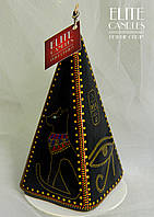 Свеча формы пирамиды с росписью красками ELITE CANDLES