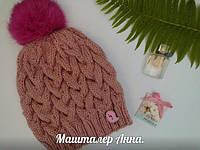 Вязаная шапка из твидового акрила Alize Nokta
