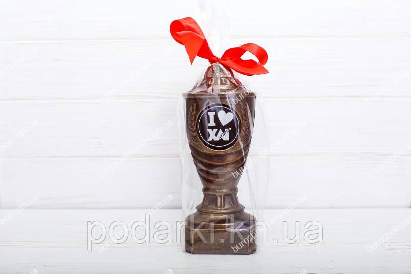 Шоколадный кубок с индивидуальной надписью