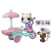 Littlest Pet Shop City Rides Литл Пет Шоп Маленький Зоомагазин Путешествие по городу Kitten and Mouse