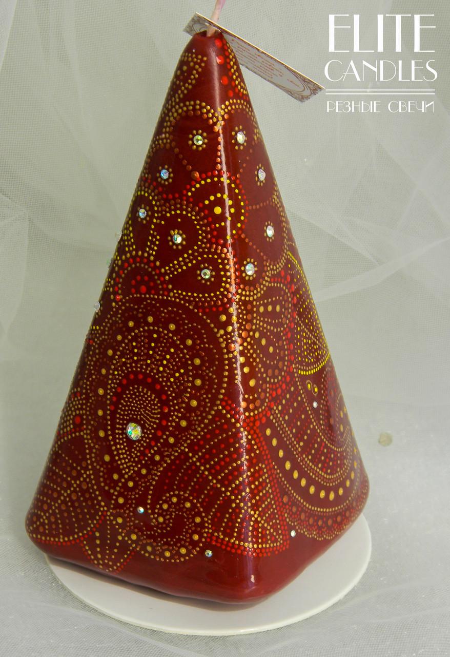 Парафінова свічка з розписом акрилом від ELITE CANDLES на подарунок
