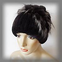 Меховая шапка из Rex Rabbit, сливовый цвет (водопад)