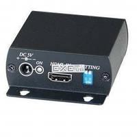 Удлинитель мониторный акт. HDMI M/ F 60.0m,(over 1xRJ45) Set(ST+SR),HQ,черный (78.01.6025-20)