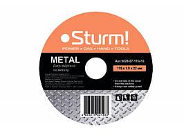 9020-07-115x10 Диск отрезной по металлу 115х1x22 Sturm!