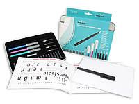 Набор для каллиграфии, Calligraphy Compendium (4 ручки, 5 пер, 18 картриджей, конвертер, бумага), Manuscript