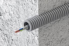 Труба гофрированная из ПВХ d=16 мм для защиты изолированных проводов и кабелей