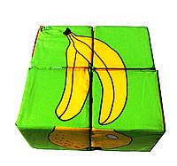 """Кубики мягкие """"Фрукты"""" 4 шт."""