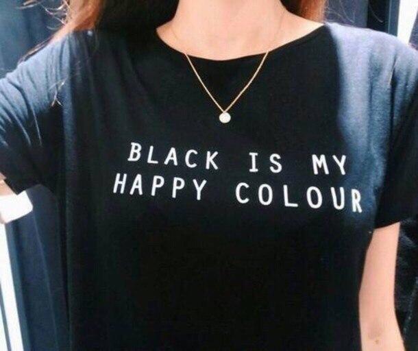 Футболка Black Is My Happy Colour (Блек Ис Май Хеппи Колор)