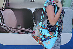 Голубая женская сумка