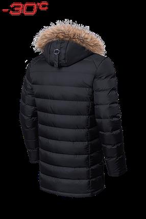 Мужская черная удлиненная зимняя куртка Braggart (р. 46-56) арт. 3172 черный, фото 2