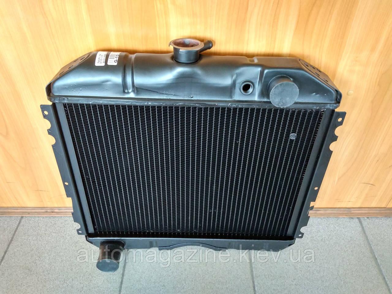 Радиатор охлаждения медный ГАЗ 2410, РАФ (2-х рядный)