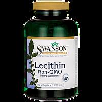 Лецитин соевый, 1200 мг 90 капсул, Lecithin, Swanson