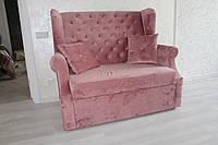 Мягкия мебель на кухню в ткани розового цвета