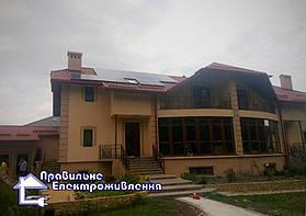 Мережева сонячна електростанція 5 кВт смт Рудно