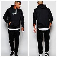 Мужской спортивный костюм Nike черный с капюшоном