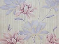 Обои бумажные, крупные цветы, B27,4 Элегия 6368-02 , 0,53*10м