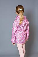 Куртка-ветровка детская для девочки (розовая) (3-6), легкая ветровка, весенняя ветровка на девочку,