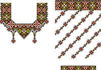 Заготовка для вишивки нитками або бісером на НАТУРАЛЬНІЙ тканині