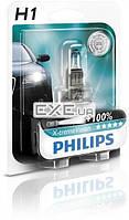 Лампа галогенная Philips H1 X-treme VISION +130%, 3700K, 1шт/ блистер (12258XV+B1)