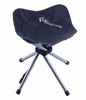 Раскладной стул Kingcamp из полиэстера, серый, нагрузка до 120 кг.FourlegsStool 4(KC3868) Dark grey