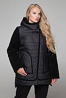 Курточка больших размеров двухсторонняя пайетка