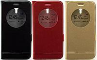 Кожаный чехол книжка с окошком для Asus Zenfone 2 Laser (ZE500KL) (3 цвета)