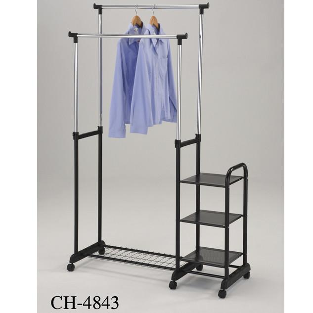 Стойка для одежды с дополнительными полками «CH-4843»