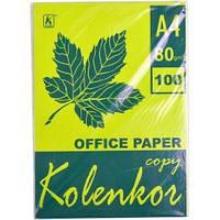 Бумага для ксерокса А4 5 цветов, НЕОН 100 листов 80 г/м2