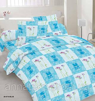 Ткань постельная 142641 Бязь (ПАК) НАБ.ГОЛД DW 20-0714 BLUE 220СМ
