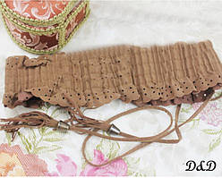 Женский пояс резинка коричневый