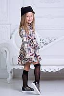 Платья-рубашка для девочки в школу, расцветка Burberry