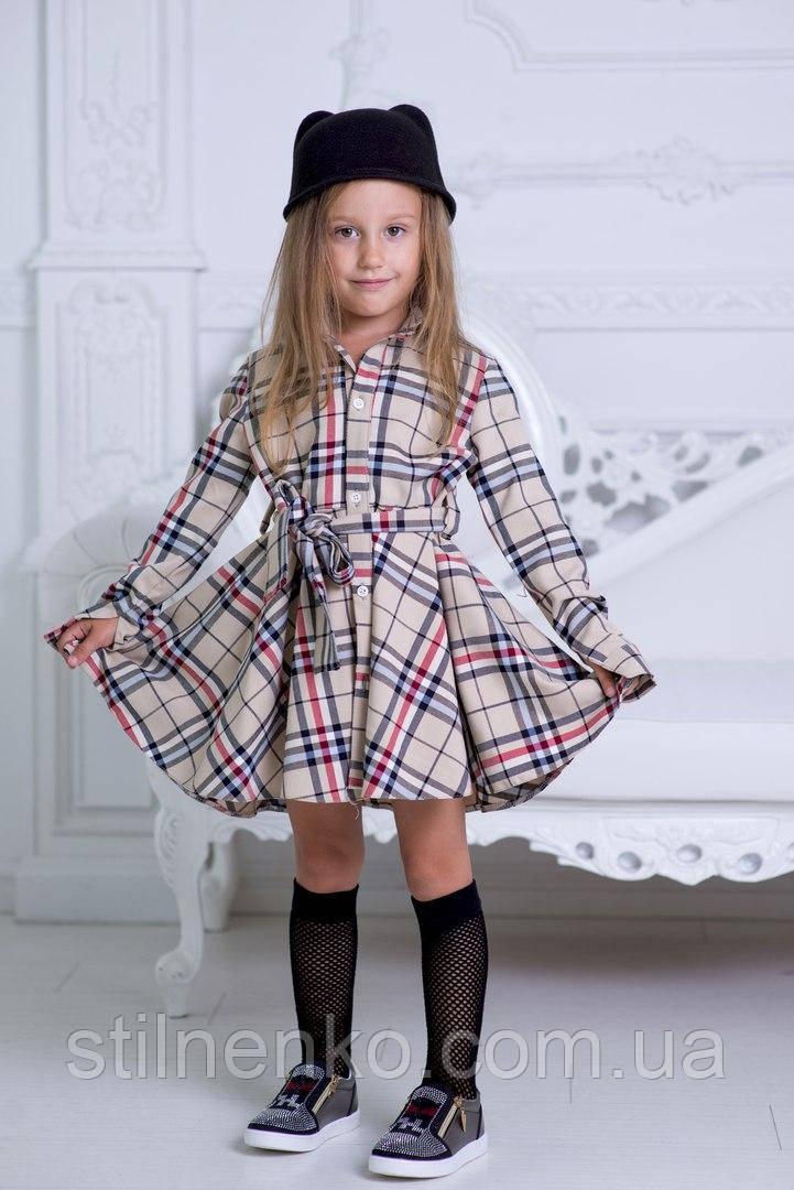 7a9d93da62f9 Платья-рубашка для девочки в школу, расцветка Burberry: продажа ...