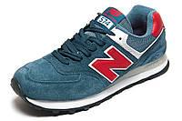 Кроссовки New Balance 574 замша, синие, унисекс, р. 38 39 40 41