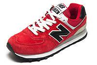 Кроссовки New Balance 574 замша, красные, унисекс, р. 38 39 40