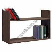 Полка для книг 75х50х25 см венге