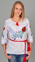 Женская сорочка вышиванка Виолетта белая, черная