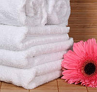Белое банное полотенце махровое для готеля Hotel(готельное полотенце)очень мягкое100% хлопок