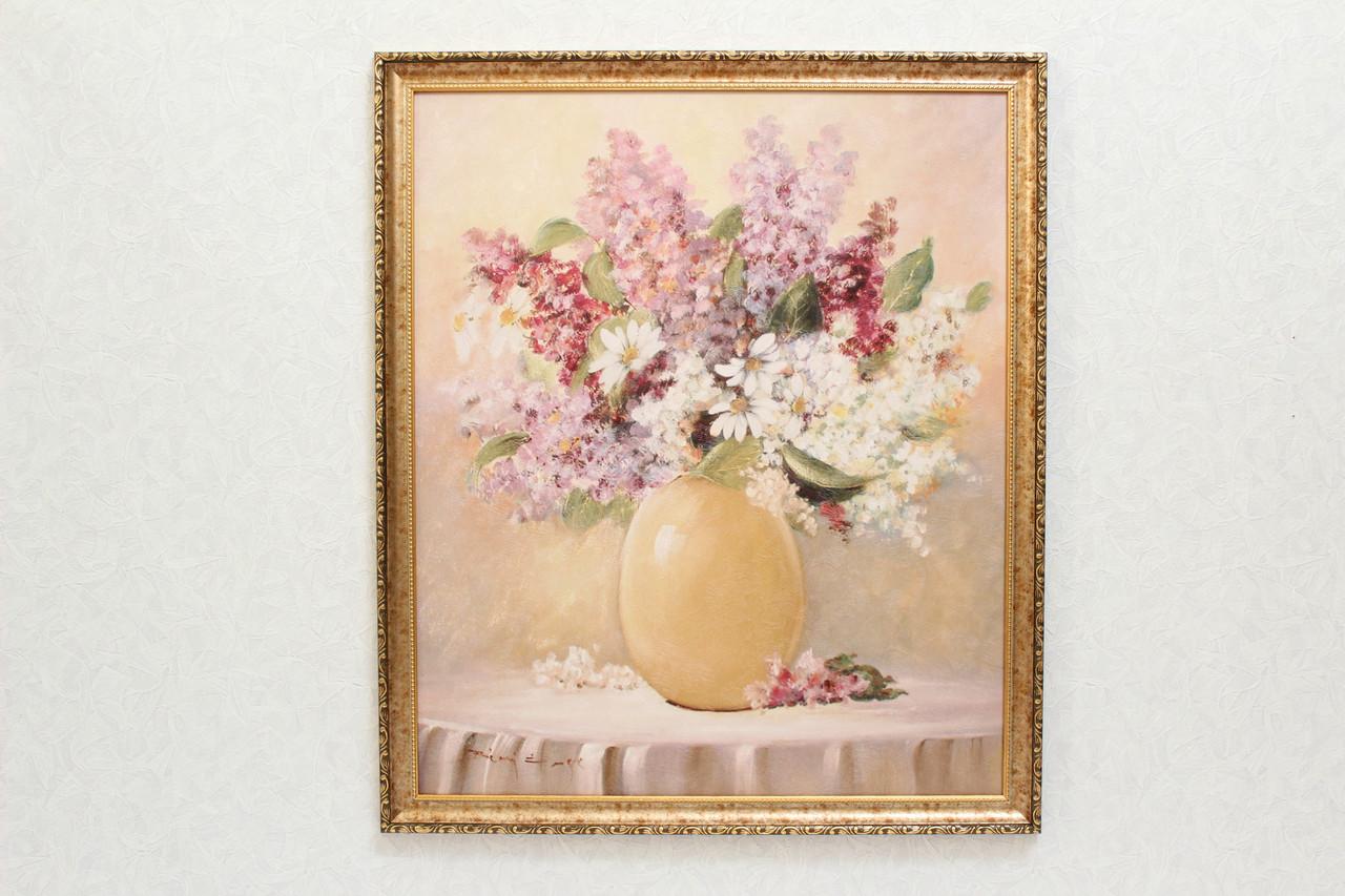 """Картина """"Букет в золотистой вазе"""""""
