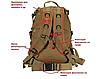 Рюкзак тактический походной штурмовой туристический molle 35 - 40л, фото 2
