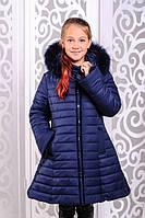 Зимняя куртка-пальто с бантом