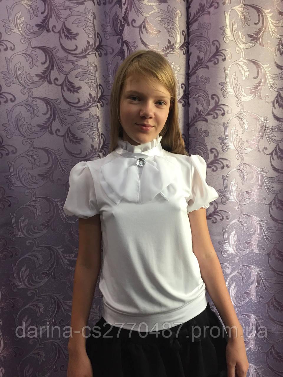04aeb0e8d20 Нарядная белая блузка для девочки - Дарина - интернет магазин детской и мужской  одежды. в